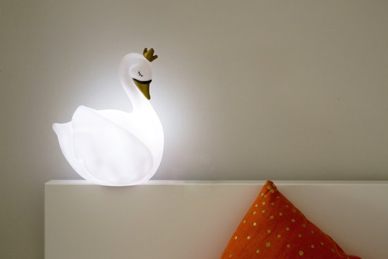 Zwaan Kinderlamp LED Dame Blanche wit Large