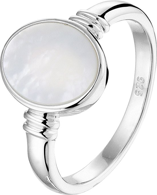 The Fashion Jewelry Collection Ring Parelmoer - Zilver
