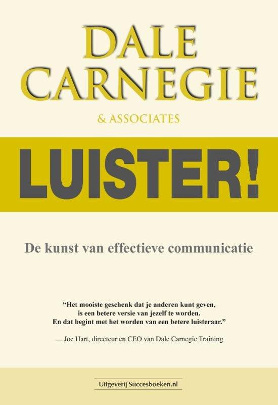 Boek cover Luister! van Dale Carnegie (Paperback)