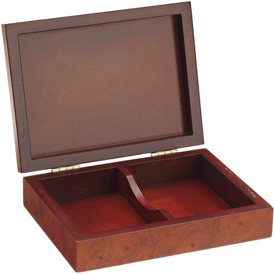 Afbeelding van het spel Philos houten opberg box voor speelkaarten