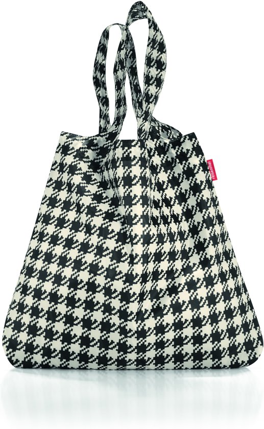 4dbc2c383ae Reisenthel Mini Maxi Shopper - Opvouwbare boodschappentas - Polyester - 15L  - Fifties Black Zwart