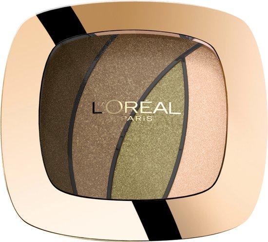 L'Oréal Paris Make-Up Designer Color Riche Les Ombres Quad - S6 Jungle Jade - Brown - Oogschaduw