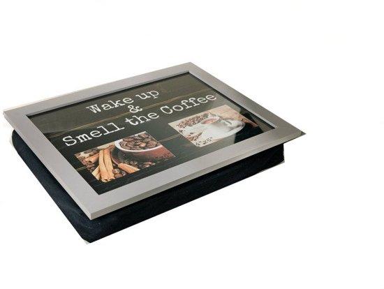 Home & Deco laptray dienblad koffie plaats voor 2 foto´s