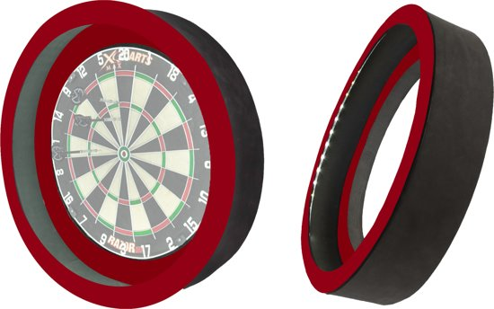 Dragon 360 2.0 - Rood - 2 in 1 - Dartbord Verlichting - inclusief beschermring