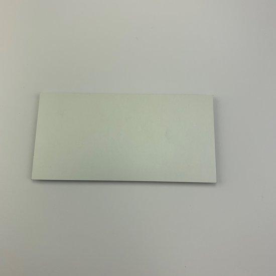 Blanco aluminium plaatjes, 100x50mm, 50 stuks