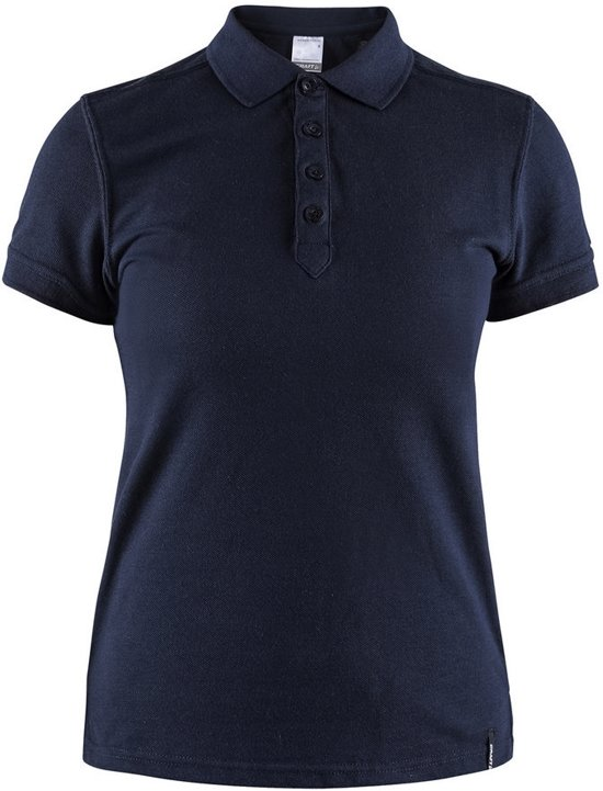 Craft Casual Polo Pique Dames Donkerblauw maat XXL