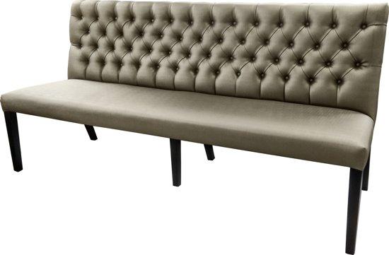 bol.com | Gecaptionneerde design eetkamerbank 200 cm breed in ...