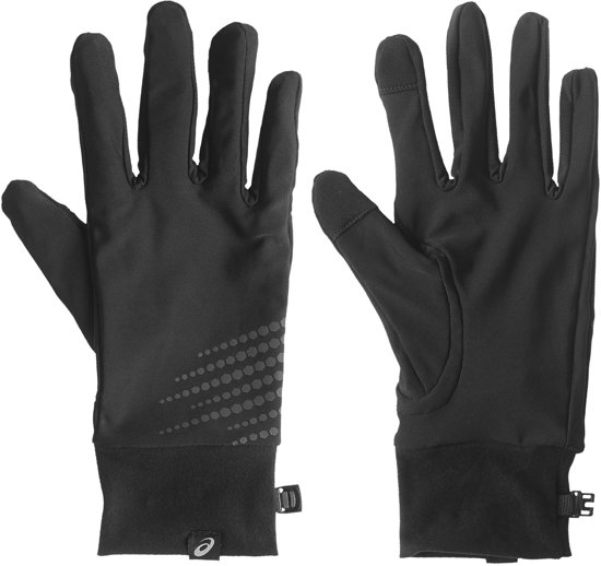 Asics Basic Performance Hardloop Handschoenen Hardloophandschoenen - Unisex - zwart