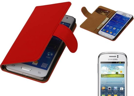 MP Case Bookstyle Hoes voor Galaxy Young S6310 Rood in De Pan