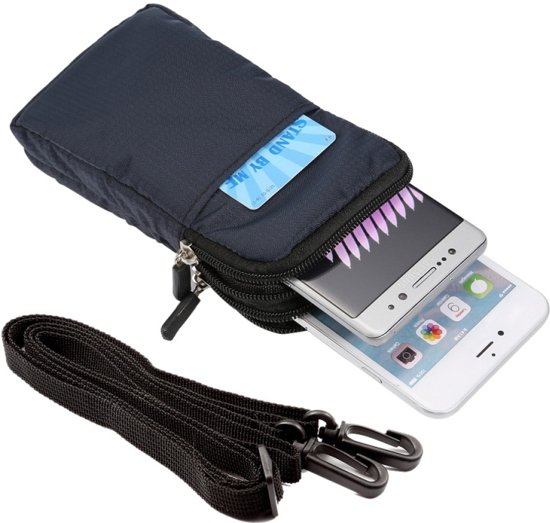 Universeel Smartphone Tasje Met Draagriem - Draagtas Bag Etui Voor De iPhone 4/5/6/7 / Samsung Galaxy