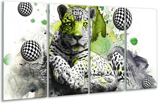 Glasschilderij Natuur   Groen, Zwart, Wit   160x80cm 4Luik   Foto print op Glas    F003124