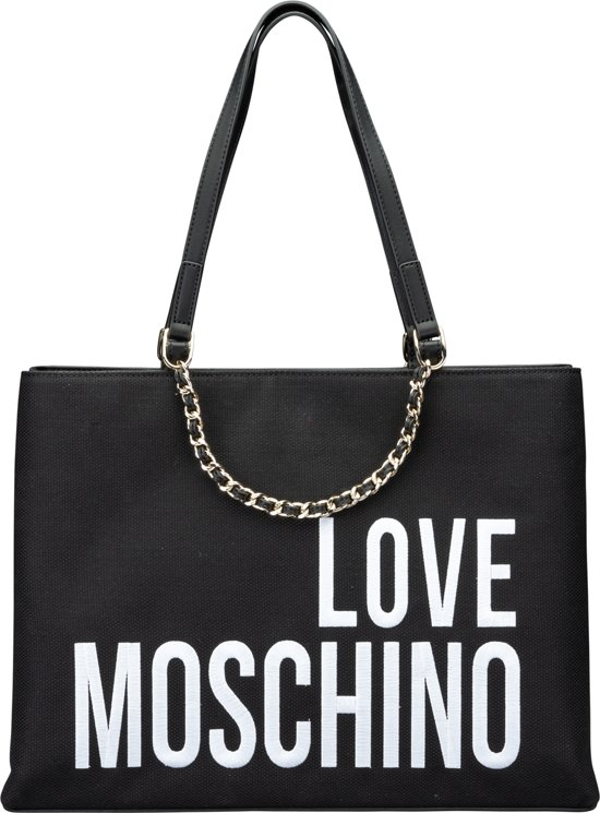ShopperBlack Canvas Moschino Embroidery Dames Love rCBdxeo