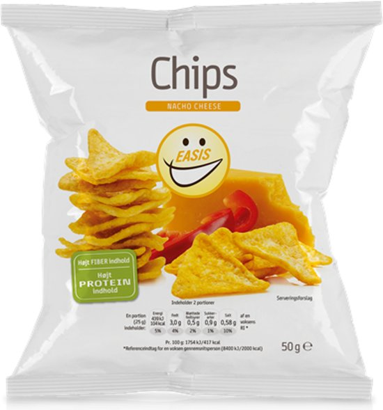 EASIS Chips - High protein & low calorie - 1 stuk (50 gram) - Nacho