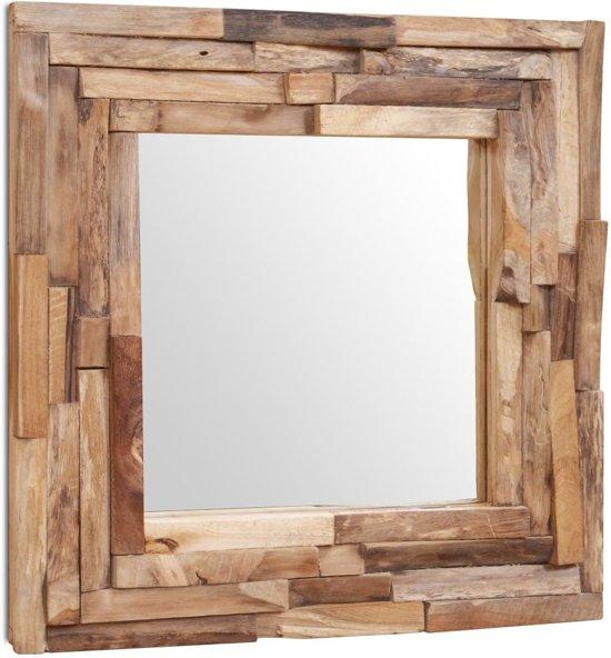 Badspiegel 60x60.Vidaxl Decoratieve Spiegel Vierkant 60x60 Cm Teakhout