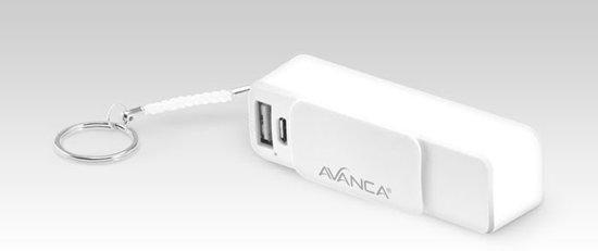 Avanca Compacte Powerbank 2.000 mAh Mobiele Oplader - iPhone - Samsung - 5V 1A - Wit
