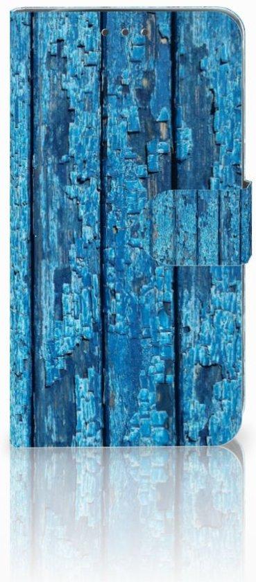 Motorola Moto G5S Plus Uniek Boekhoesje Wood Blue