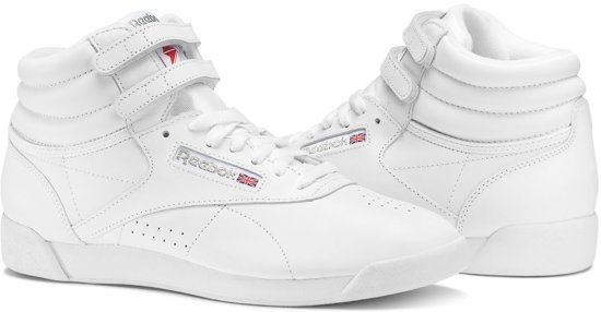 1297ef5252a bol.com | Reebok Freestyle Hi Sneakers Dames - Int-White/Silver ...
