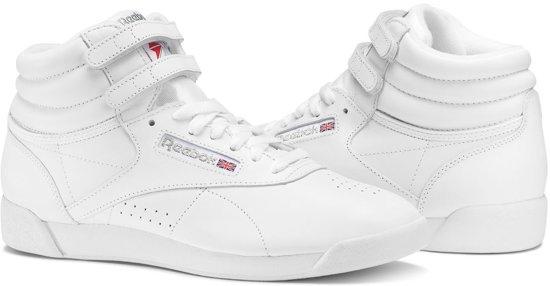 380e9115772 bol.com | Reebok Freestyle Hi Sneakers Dames - Int-White/Silver ...