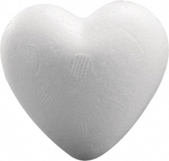 1x Piepschuim hartje van 5 cm