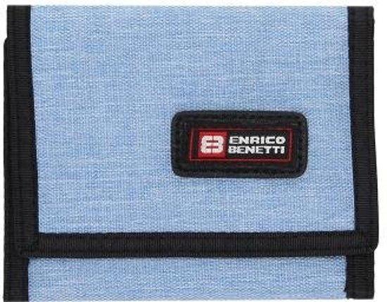 f250b67ace7 Enrico Benetti Montevideo Portemonnee met Klittenbandsluitting Licht Blauw