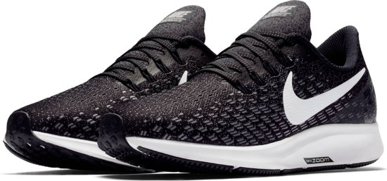 Nike Air Zoom Pegasus 35 Hardloopschoenen Dames - Black/White-Gunsmoke-Oil Grey