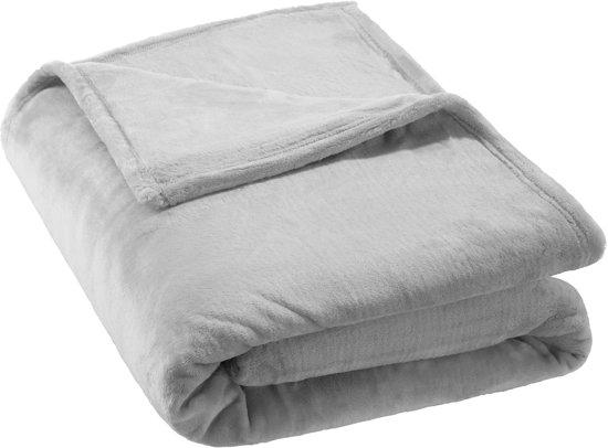 Deken grijs - 220 cm x 240 cm