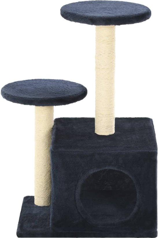 vidaXL Kattenkrabpaal met sisal krabpalen 60 cm donkerblauw