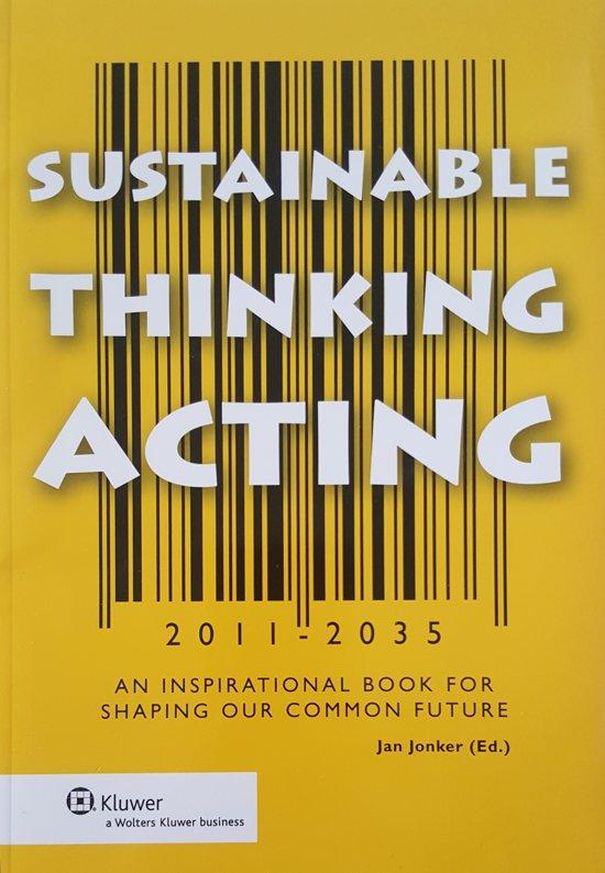 Sustainable thinking acting