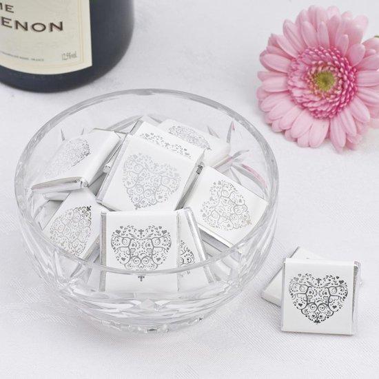 Neviti Vintage romance - zilveren chocolade tiny's - 50 stuks Valentinaa