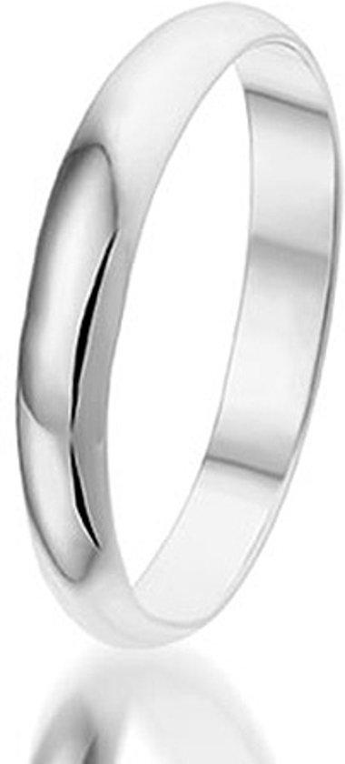 Montebello Ring Wedding - Unisex - 925 Zilver - Trouw - 3 mm - maat 58 - 18.5