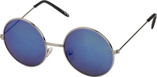 f1a435840907f9 Ronde zonnebril hippie john lennon gabber stijl - blauwe spiegel lens