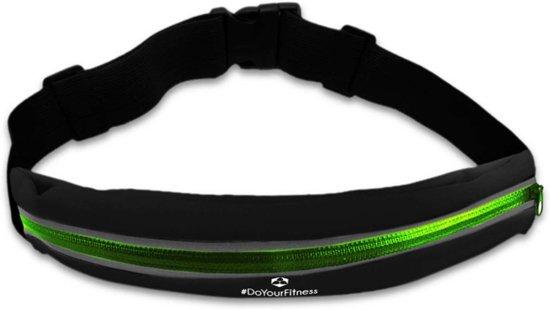 #DoYourFitness - Loopriem - »Run&Fun« - heuptas / ritszak voor hardlopen ,elastisch, waterdicht - mobiele telefoon tot ca. 5,5 inch - groen