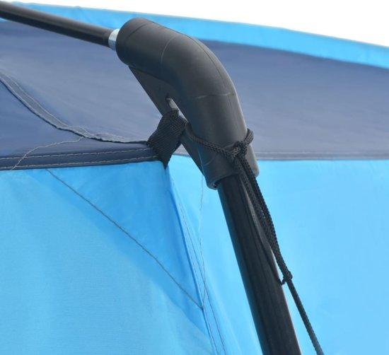 vidaXL Zwembadtent 500x433x250 cm stof blauw