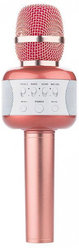 Afbeelding van Eshishang Wireless Karaoke Microfoon Draadloos Rose Gold.