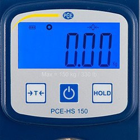 Digitale hangweegschaal PCE-HS 150N