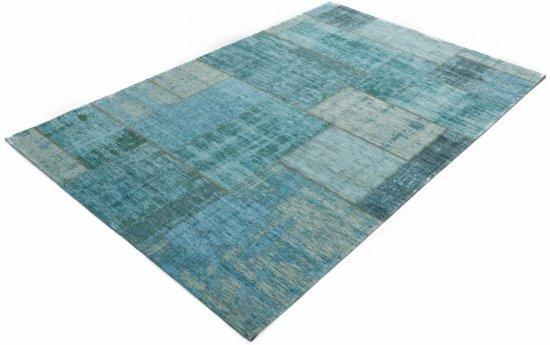 c5829f2527fd16 Pognum 33 - Uniek vintage vloerkleed in turquoise blauw kleurstelling