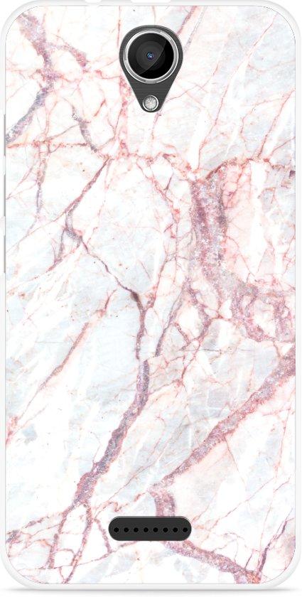 Wiko Harry Hoesje White Pink Marble