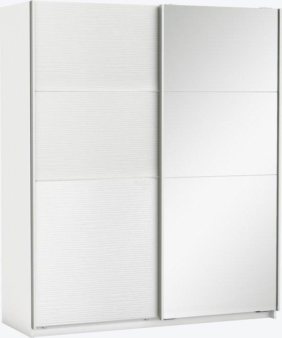 Schuifdeuren Voor Garderobekast.Kesta Slidy Kledingkast Met Schuifdeuren Wit
