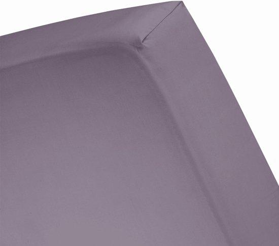 Damai - Hoeslaken (tot 15 cm) - Katoen - 70 x 150 cm - Purple