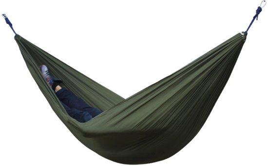Hangmat 2 persoons - 2 persoons hangmat - Compacte en lichte hangmat - Hangmat ideaal voor op reis - Max. draagvermogen ca. 240 kg