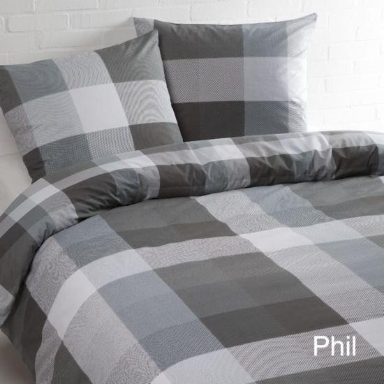 Day Dream Phil - Dekbedovertrek - Tweepersoons - 200x200/220 cm + 2 kussenslopen 60x70 cm - Zwart