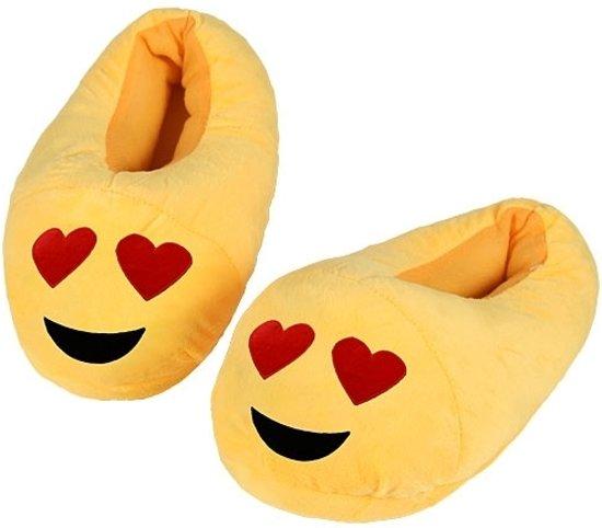Emoticon sloffen hartjesogen voor kinderen 25-27