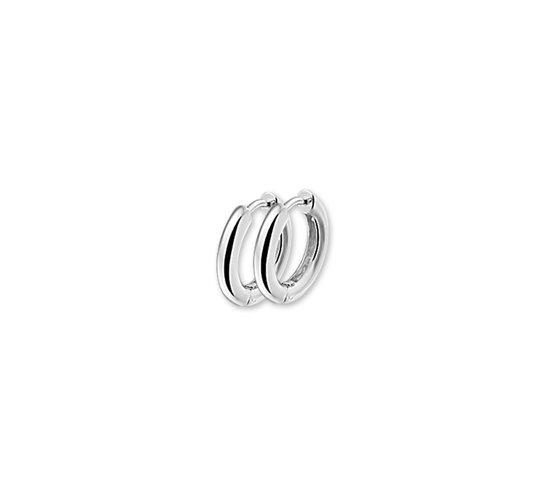 The Jewelry Collection Klapoorringen Bol - Zilver Gerhodineerd