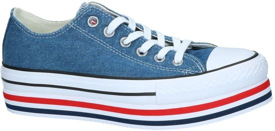 eea0b0a391a bol.com | Blauwe Sneaker Converse All Star Chuck Taylor Platform Layer