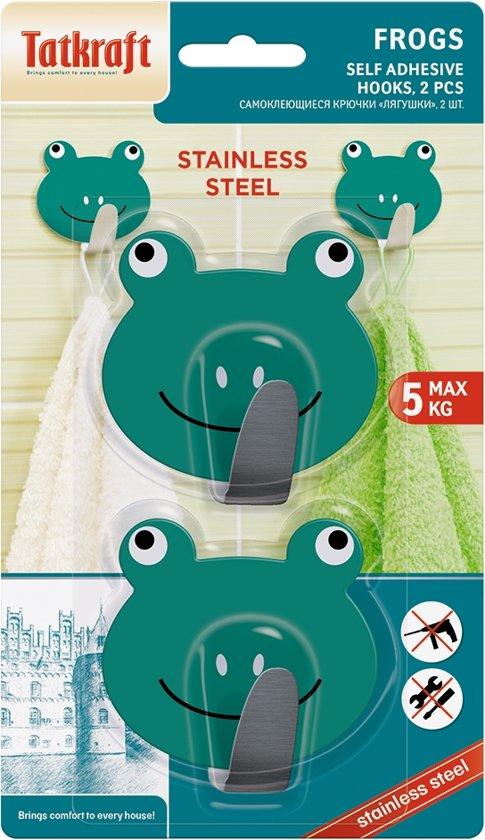 Vrolijke Zelfklevende Kinder Ophanghaak Set - 2x Wandhaakje - Wand Ophang Haak Kapstok Muurhaak - Deurhaak Zelfklevend - Extra Sterk Tot 5 KG