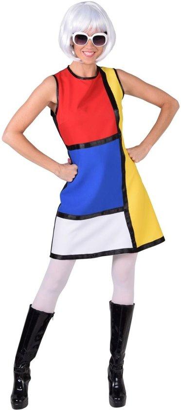 Mondriaan Modern Art jurkje maat 38/40 - Jaren 60 verkleedkleding dames