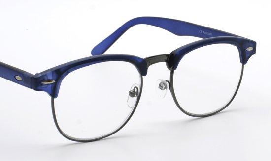 1c5ddd360d1081 Genova retro stijl Clubmaster leesbril van Amazotti