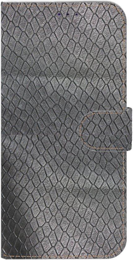 Echt leer Zwart reptielprint hoesjes voor uw Samsung Galaxy A70 gemaakt in Nederland