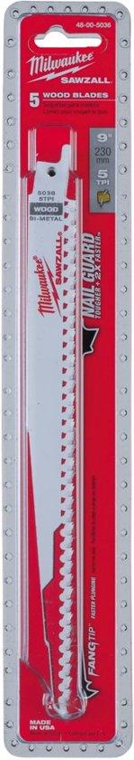 Milwaukee reciprozaagblad  230 / 4,2mm  (5st)