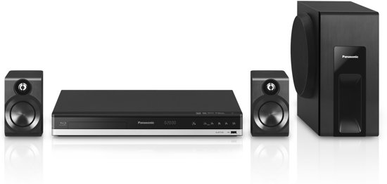 Panasonic SC-BTT105- Home cinema set- Zwart - 2.1 kanaals 3D Home Cinema netwerk set - Zwart